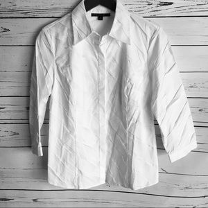 Lafayette 148 button down shirt, folded pleats